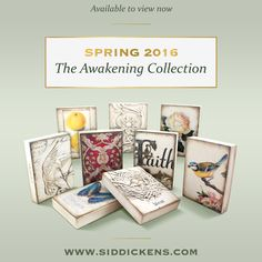 Introducing the new Sid Dickens Memory Blocks for Spring 2016, The Awakening Collection. Now available through Endless Ideas Interiors Inc. #EndlessIdeas #SidDickens