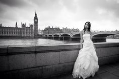 Wedding photo, wedding dress, black&white
