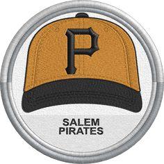 Salem Pirates cap hat uniform sports logo - Carolina League - Minor League Baseball - MiLB - Created by John Majka