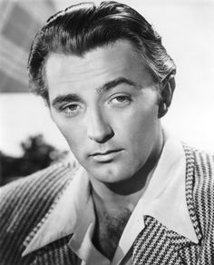 Robert Mitchum~ so handsome. wonderful voice and love his intensity as an actor. was great in drama and early on he did some comedies. :)