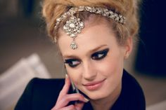 Headpieces at Chanel/ Paris-Bombay
