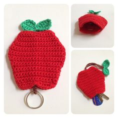 Sweet key cozy Apple 7,00 euro by   SweetHandmade Crochet