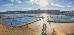 Allas Sea Pool - floating swimming center with saunas in the heart of Helsinki
