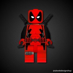 Lego Deadpool Illustration - Today's bit of fun :) #Lego #Deadpool #Marvel #Art #Follow #Design #Movies #Like