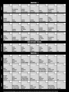 le programme insanity gratuitement avec diet et le calendrier
