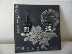 Earrings Cute Rhinestone Owl Earrings #Handmade #DropDangle