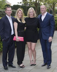 (L) Peter Phillips jokingly called Zara Tindall his 'annoying little sister', but called her a fantastic mother. Pictured: the siblings with their partners Autumn Phillips and Mike Tindall at a Gala dinner in Hertfordshire in 2015 Prince Charles And Diana, Prince Philip, Zara Phillips, Peter Phillips, Adele, Autumn Phillips, Royal Family Pictures, Camilla Duchess Of Cornwall, British Royal Families
