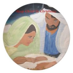 Keep Christ In Christmas Holiday Plates