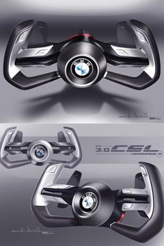 Steering wheel details from the BMW 3.0 CSL Hommage R Concept - Olivier Pruvost