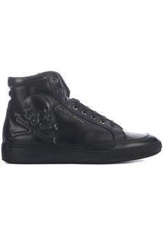 Bijzondere Philipp Plein shoes Icon zwart (zwart) Heren sneakers van het merk philipp plein . Uitgevoerd in zwart.