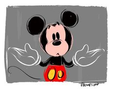 By Steve Thompson Mickey Mouse And Friends, Minnie Mouse, Disney Mickey, Disney Art, Disney Fanatic, Laugh At Yourself, Disney Drawings, Aladdin, Animation