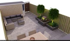 Wide range of garden items and accessories. Get a clear picture of your new garden design in advance Small Yard, Garden Design Plans, Garden Planning, Small Backyard, Landscape Plans, Outdoor Living, Home And Garden