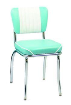 Vitro 921MBWF Classic Diner Chair, Malibu Back, 2 in Waterfall Seat, Chrome, Each