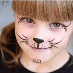 <img> It is not necessary to be an expert to create these fun party makeup for children. Although there is exclusive makeup to do this … - Cat Face Paint Easy, Kitty Face Paint, Mime Face Paint, Girl Face Painting, Face Painting Designs, Painting For Kids, Body Painting, Simple Halloween Face Painting, Makeup Up