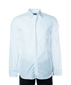 GIVENCHY Givenchy Men's 100% Cotton Solid White Button Down. #givenchy #cloth #