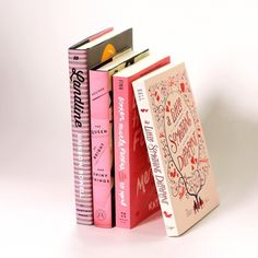 Pink books make us #swoon all day every day! #alittlesomethingdifferent #books…