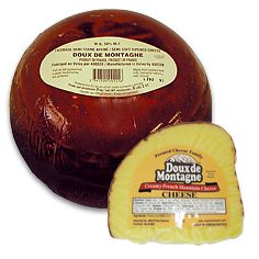 Doux de Montagne: This creamy pale yellow cheese goes great in omeletts!  available at  Galveston Specs!