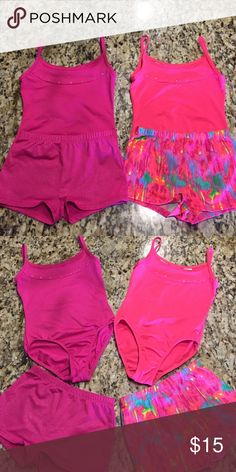 Girls Dance Attire, Size 6/6X FreeStyle Girl's Dance Attire, Size 6/6X: Includes 2 leotards and 2 matching shorts. Minimal wear, great condition! Freestyle Costumes Dance