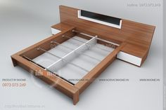 giường ngủ hiện đại, giuong ngu hien dai Simple Bed Designs, Double Bed Designs, Simple House Design, Bed Frame Design, Bedroom Bed Design, Interior Design Living Room, Diy Modern Bed, Modern Bedroom, Bed Furniture