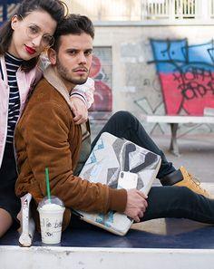 "Funda portátil 13"" Tejido estampado efecto mármol   B-Kover Street Style, Jackets, Fashion, Laptop Sleeves, Tejidos, Down Jackets, Moda, Urban Style, Fashion Styles"