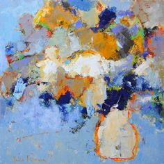 French Ultramarine - painting by Julia Klimova at Crescent Hill Gallery