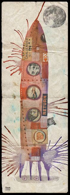 Gustavo Aimar. Collage/mixed media/writing...the kind of work I like to do.