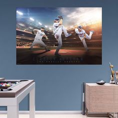 Los Angeles Dodgers Clayton Kershaw Wall Decal by Fathead, Multicolor