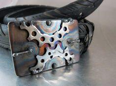 Steampunk Semicircles Belt Buckle by RhythmicMetal on Etsy, $50.00