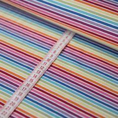 Ringeljersey Jersey Stoff Regenbogen Bunte Streifen Weiß gestreift Linien Kind in Möbel & Wohnen, Hobby & Künstlerbedarf, Stoffe | eBay