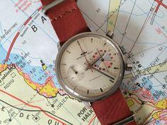 Seaboard Yacht Yachting Chronograph - Movement Landeron 248 - Circa 1960