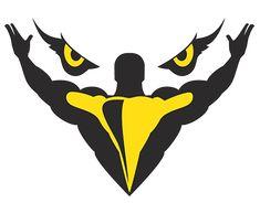 Madaras Team / logo  #logo #sport #fitness #bodybuilder #eagle #yellow #grey #team