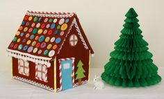 gingerbread houses pictures | Tales from a happy house.: A Felt Gingerbread House