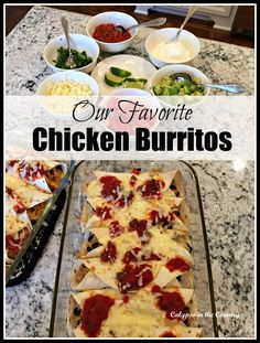 Favorite Chicken Burritos - This is the best chicken burrito recipe we have tried and is a huge hit with the whole family.