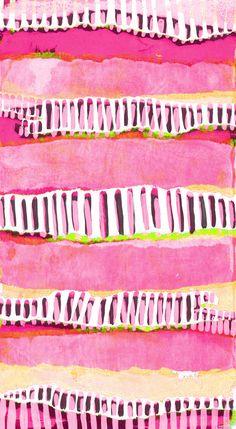 Pink stripy thing - Sarah Bagshaw