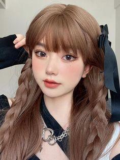 Korean Girl Photo, Cute Korean Girl, Make Up Looks, Kawaii Hairstyles, Pretty Hairstyles, Korean Beauty Girls, Asian Beauty, Cute Makeup, Hair Makeup