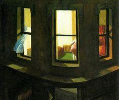 """Edward Hopper, Finestre di notte """"Night windows"""" (1929)."""