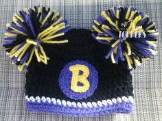 Crocheted+Baltimore+Ravens+hat+by+TinyTippyToppers+on+Etsy,+$25.00