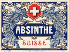 Absinthe Suisse label design