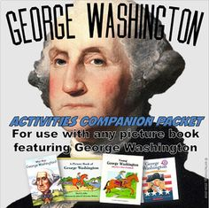 George Washington Picture Book Companion Activities w/Interactive Notebook Tasks