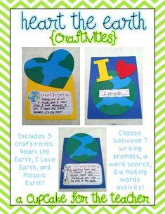 heart the earth {craftivities} - A Cupcake for the Teacher - TeachersPayTeachers.com