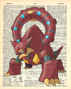 Volcanion Pokemon Dictionary Art Print by MollyMuffinsPrints
