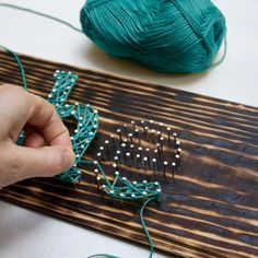 Make this DIY string art typography sign with a few simple steps for a great wall decor.