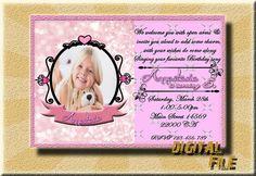 Birthday Invitation Girl Birthday Invitation by DigitalitemsShop
