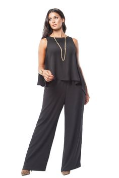 MYNT 1792 Asymmetrical Overlay Jumpsuit - Love the look with the leopard booties.