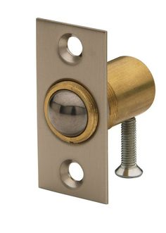 Baldwin 0426 Solid Brass Adjustable Ball Catch with 1-1/3 Inch x 2-1/8 Inch Stri