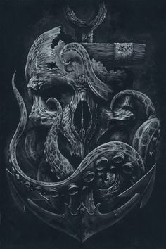 LE casier impression personnalisée Octopus crâne par grabinkART