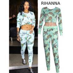 Chandal Estampado Piña de Rihanna PA173 Rihanna, Womens Fashion, Pants, Dresses, Hot Clothes, Dress Shops, Spring Fashion, Fashion Trends, Feminine Fashion
