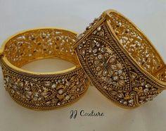Gold Bangles Design, Jewelry Design, Diamond Jewelry, Gold Jewelry, Rajputi Jewellery, Kundan Bangles, Bollywood Jewelry, Indian Jewelry, Antique Jewelry