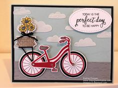 The theme for this week's challenge from the Global Design Project is Wheels. This gave me the perfect chance to try the Bike Ride bundle from Stampin' Up! I admit I was a little over…