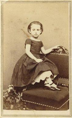 dainty girl with petticoat showing civil war era fashion
